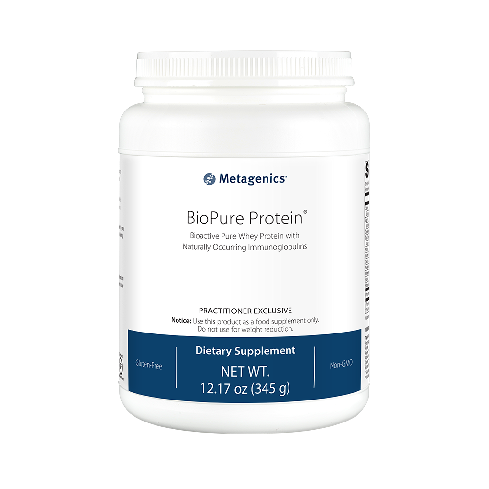 An example of the BioPure Protein supplement, available through the Hope N Wellness Metagenics store.