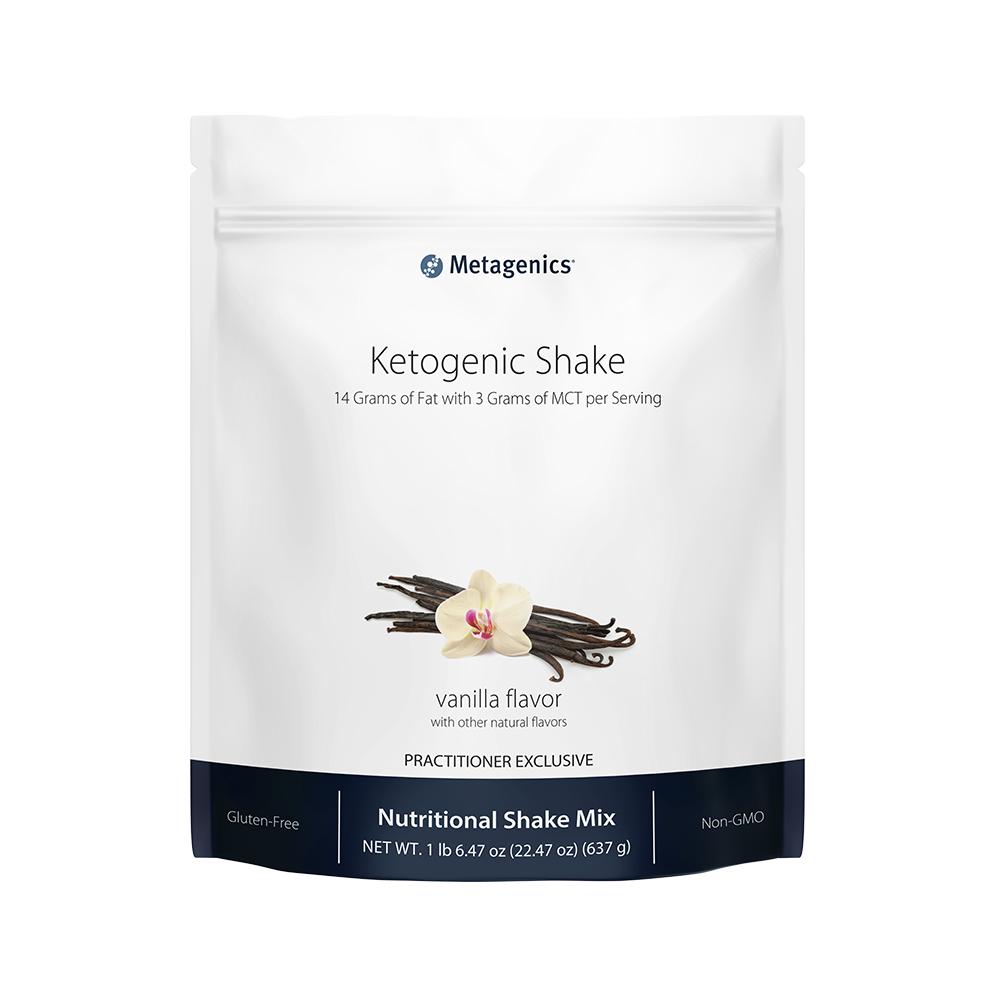 Ketogenics shake, one of the many Metagenics protein shakes.