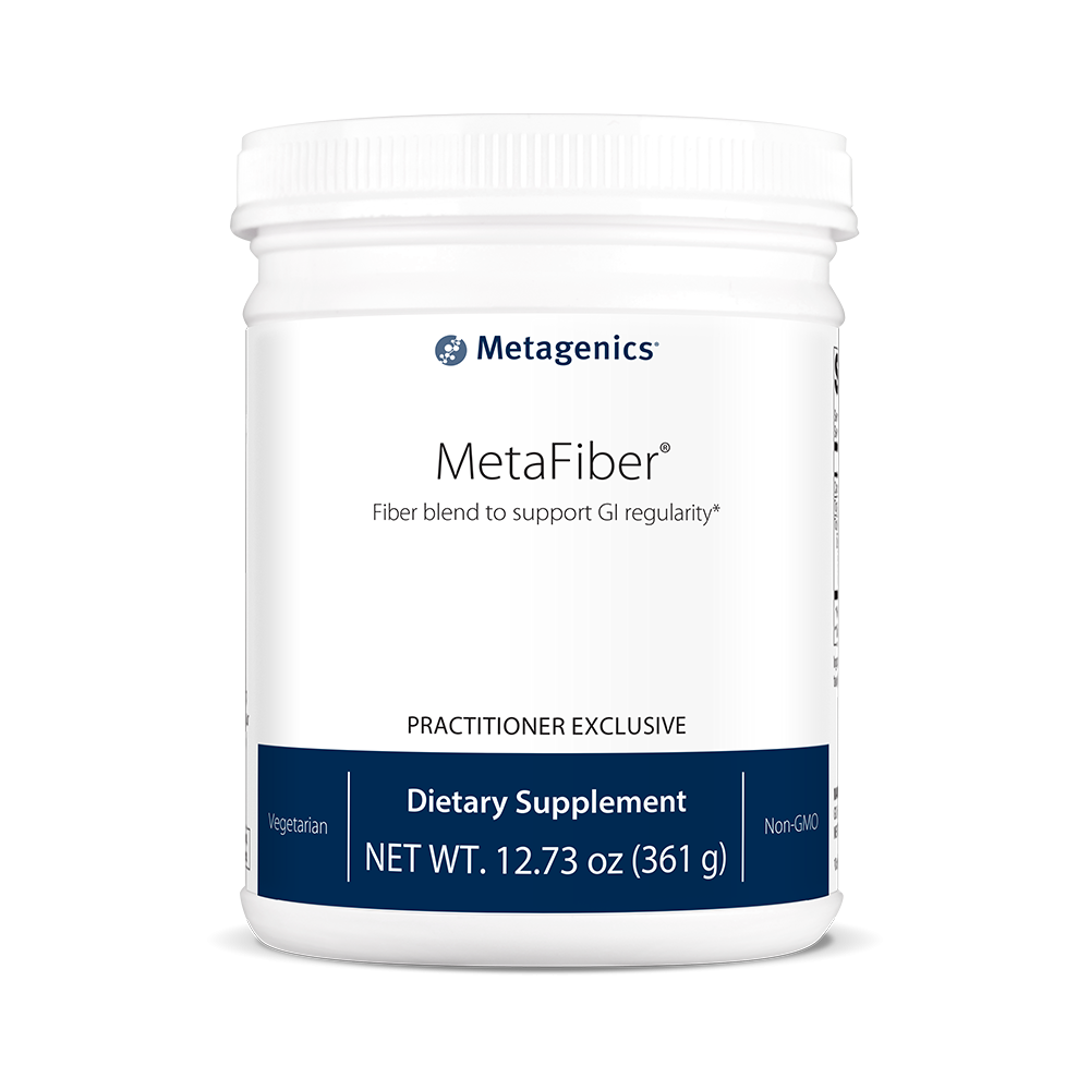 One of the many Metagenics shakes available today, MetaFiber.
