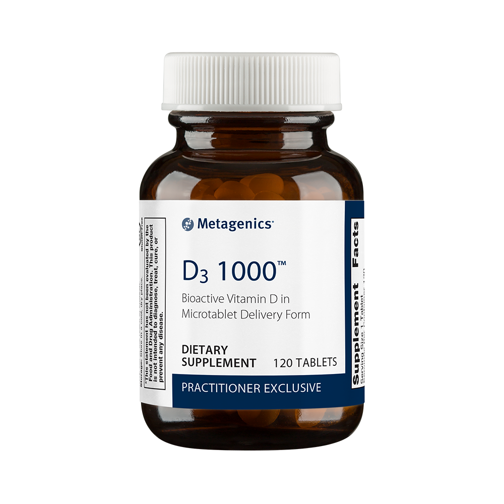 D3 1000, a high-quality Metagenics vitamin d supplement.