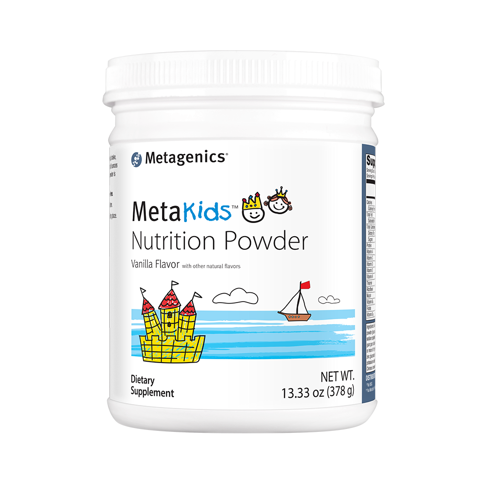 Metagenics' Metakids Nutrition Powder supplement, a good way to ensure kids receive adequate nutrition.
