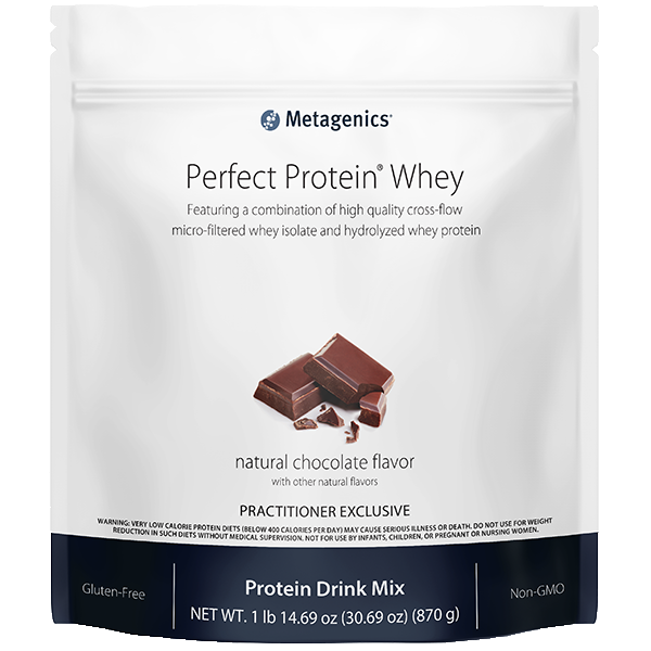 Perfect Protein Whey is one of the many Metagenics shakes we're discussing here today.
