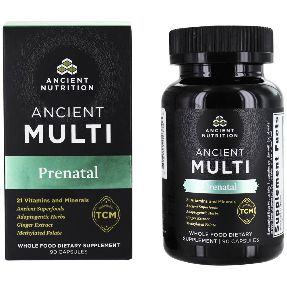 Ancient Nutrition's Ancient Multi Prenatal Formula, one of the top prenatal vitamin packs on the market.