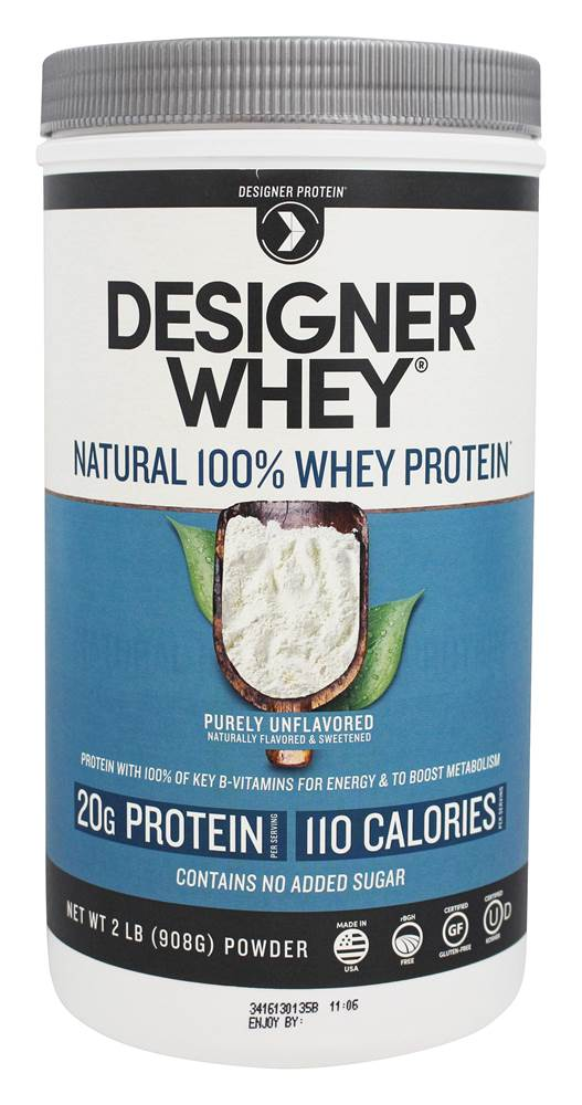 Designer Protein's Designer Whey protein product is one of the top whey protein supplement shakes for building muscle.