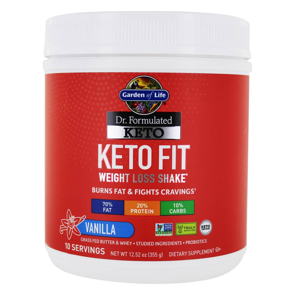Garden of Life's Dr. Formulated Keto Fit Weight Loss Shake is one of the most effective keto supplement shakes.