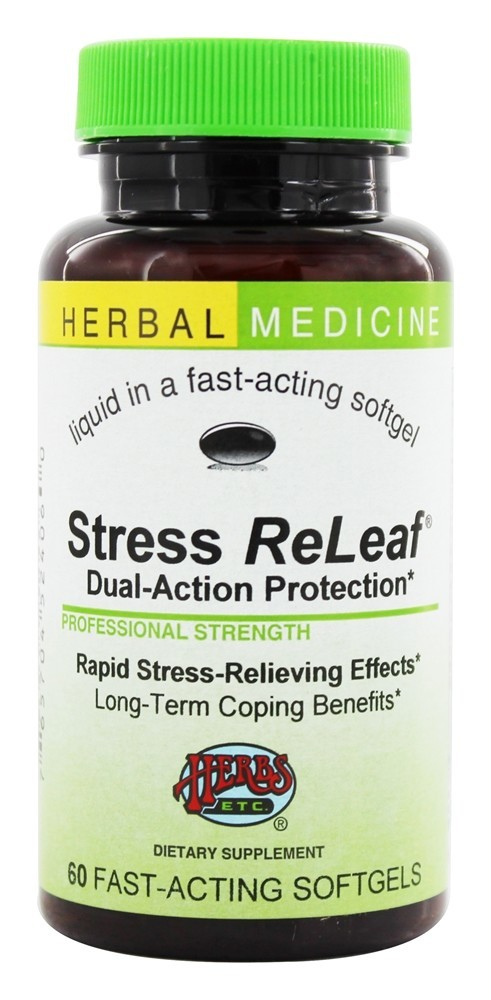 Stress Releaf, a stress relief supplement from Herbs Etc.