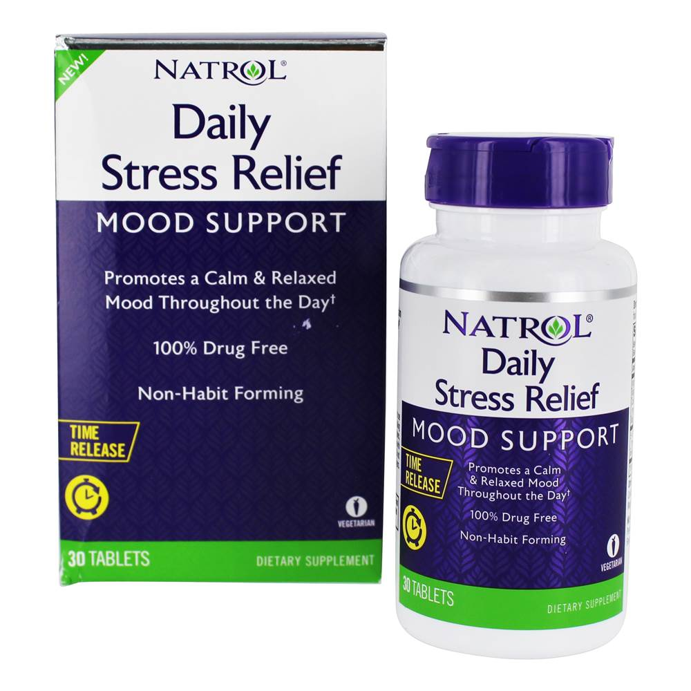 Supplements for stress relief, Natrol – Daily Stress Relief Mood Support.