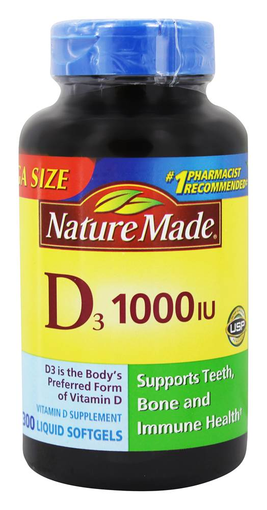Nature Made – Vitamin D3 1000 IU – A high-quality vitamin d supplement.
