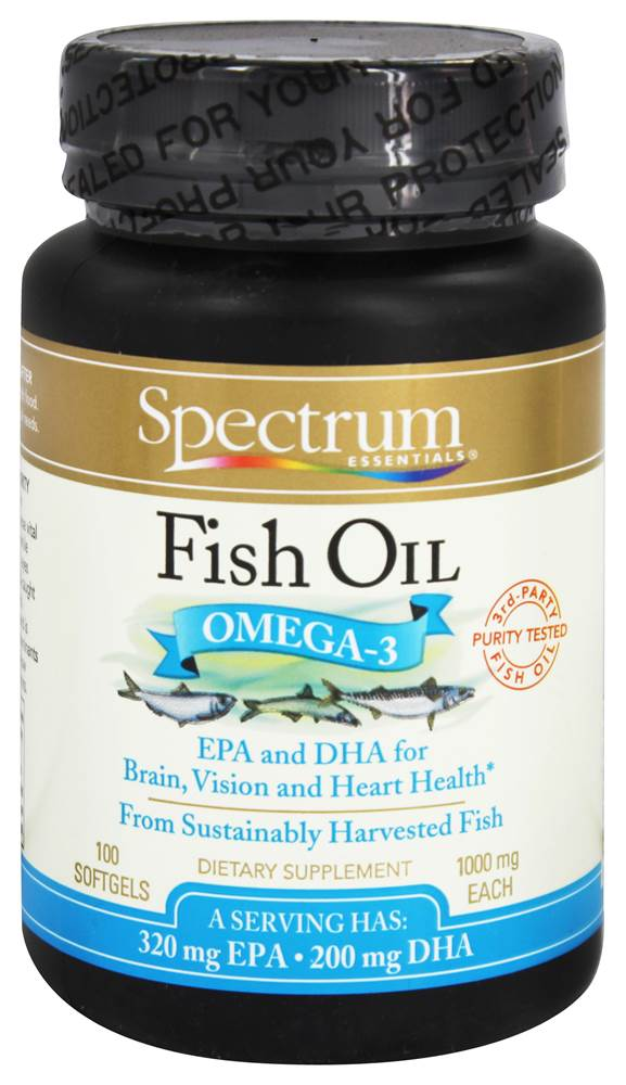 Spectrum Essential Fish Oil Supplement.