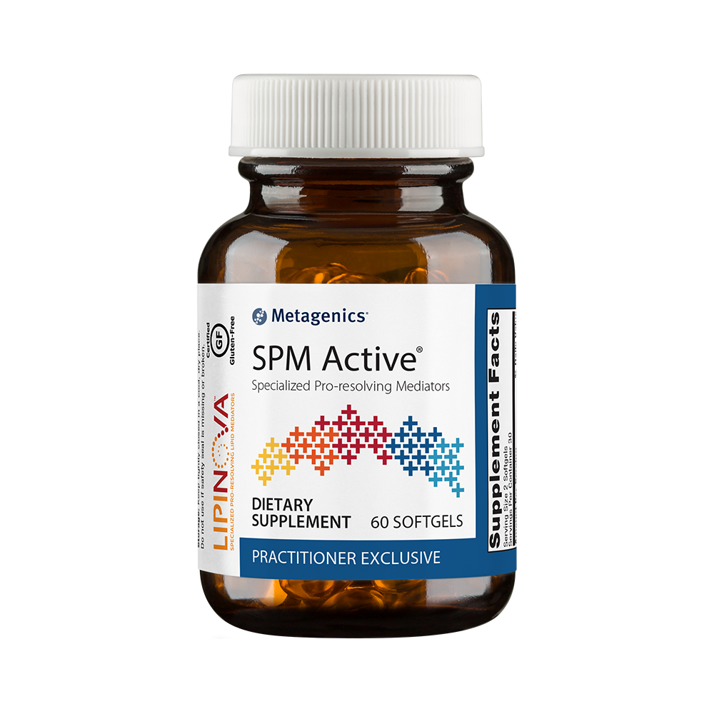 SPM Active, a great supplement from Metagenics, packed with specialized pro-resolving mediators.